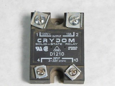 Crydom D1210 Solid State Panel Mount Relay 10A 24-140VAC 3-32VDC  USED