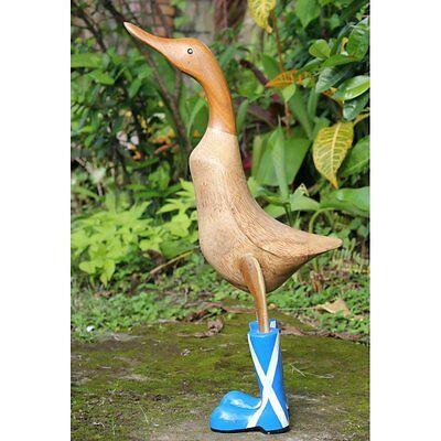 Fairtrade Bamboo Root Duck Statue | Scottish Boots
