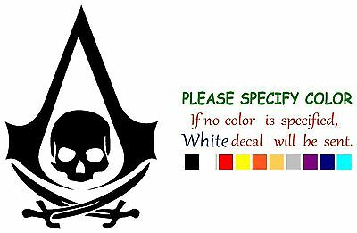 Assassin's Creed PIRATE Decal Sticker JDM Funny Vinyl Car Truck Window Bumper 7""
