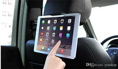 "Adjustable Universal In Car Headrest Seat Holder For iPad Samsung Tab 7"" To 11"""