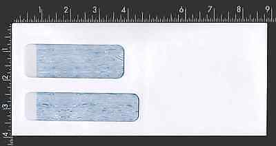 3⅞ x 8⅞  #9 24lb White Security Double Window Check Envelope Gummed - 1,000 Pack