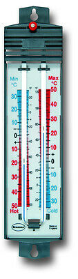 Brannan Max Min Thermometer Garden Greenhouse C&f Magnet Reset - 12/401/3