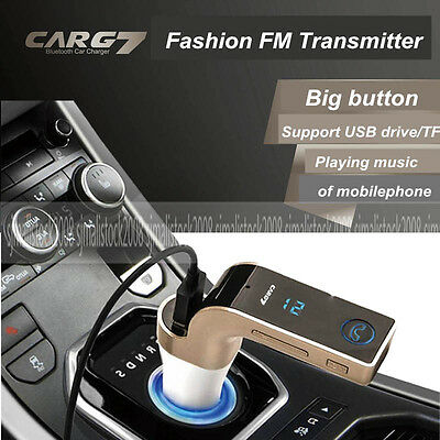 Wireless Bluetooth FM Transmitter Car MP3 Radio USB Charger for iPhone SE 5S 6 +