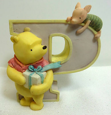 Disney Classic Winnie the Pooh Michel Figurine Letter P for Present Piglet Pooh