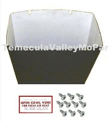 Glovebox - Decal - Mounting Screws Pkg for 1937 DeSoto