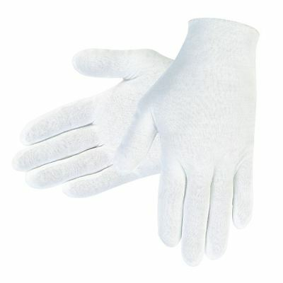 (1 Pair) White Cotton Inspection/Handling Gloves for Precious Metals