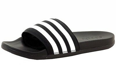 Adidas Men's Adilette CF Ultra Black/White Slides Sandals Shoes