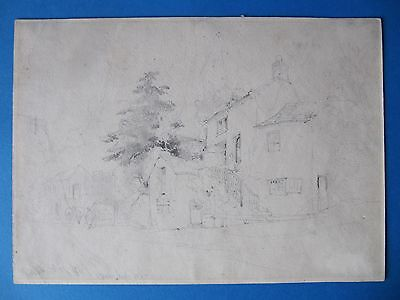 Very Fine Antique Mid 19th Century Drawing. William Callow