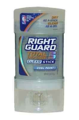 Right Guard Total Defense 5 Clear Stick Antiperspirant & Deodorant, Cool Peak,