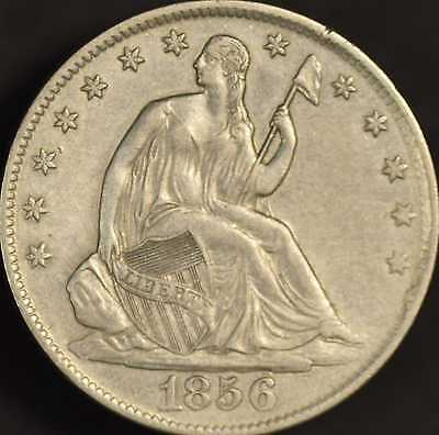 1856 Seated Half Dollar Almost Uncirculated