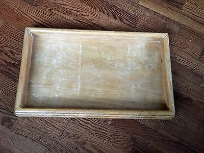 "Vintage Wooden Rectangular Breakfast Serving Tray by Strata Group - 22""x12"""