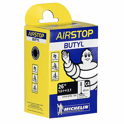 Lot of 10 Michelin Airstop Butyl Road Bicycle Tubes, 60mm, 1.6 - 2.1, NEW, BNIB