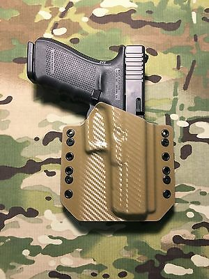 COYOTE TAN CARBON Fiber Kydex Holster for Glock 20 21