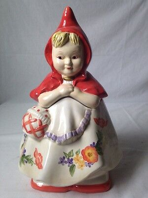 Little Red Riding Hood Cookie Jar By Block Reproduction of Hull