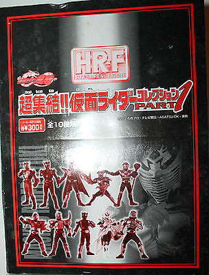 4 x Masked Rider Kamen Part 1 Hyper Real Figure Bandai 2002 HR-F from Japan