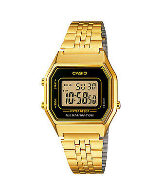 Casio LA680WGA-1 Ladies Mid-Size Gold Tone Digital Retro Watch