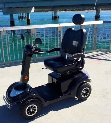 Mobility Scooter 038 Heavy Duty Large Size Black with Chrome accents BR NEW