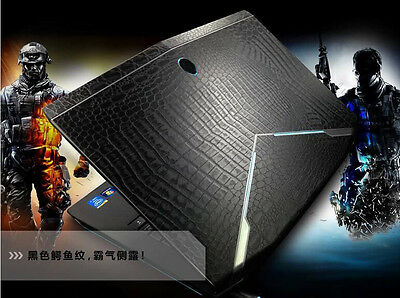 KH Laptop Crocodile Leather Skin Cover Protector for Dell Alienware 15 M15X 2015