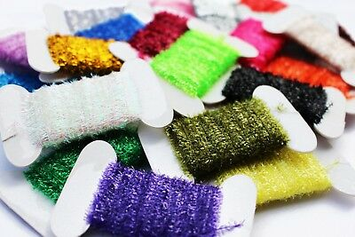 100M Assorted 10 Colours Tinsel Chenille Crystal Flash Line Fly Tying Materials