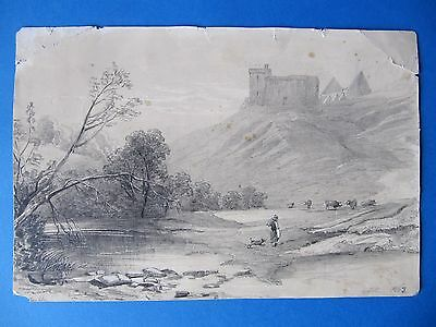 Fine Antique 19th Century Drawing