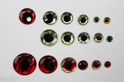 200pcs Assorted Sticky 3D Fish Eyes Fish Skull Living Eyes Fly Tying Materials