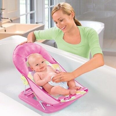 Summer Infant Deluxe Baby Bather Circle Daisy Girl Newborn Tub Bath Sink NEW