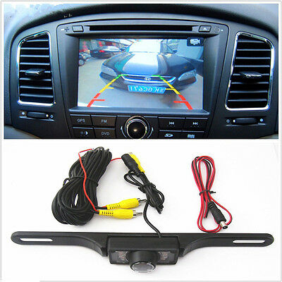 Auto License Plate Infrared Night Vision CCD Waterproof Reversing Camera Parking