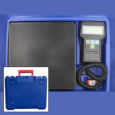 HVAC Digital Electronic Refrigerant Charging Scale 220 lbs  With Case NEW CA