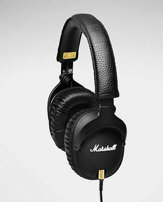 Original Marshall MONITOR Over-Ear Headphones w/ Microphone Black