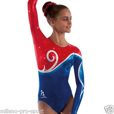 "Milano Pro Sport Gymnastic leotard 'Whirl 161001' - Sizes 26""-36"" - New"