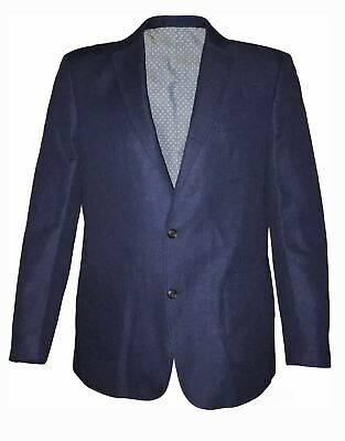 Mens Extra Tall Smart Casual Blazer Jacket in Cobalt Blue in Size 40XL to 54XL