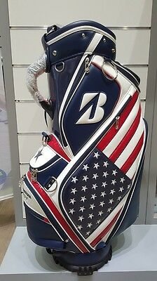 ''NEW'' Bridgestone US Open Golf Cart Bag Blue/Red 5 Way Top  8 Pockets