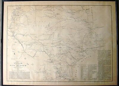 1857 U.S Bureau of Topographical Engineers: Map of Texas and Part of New Mexico