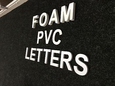 White PVC Freestanding Letters for Business Signage or Home Decor
