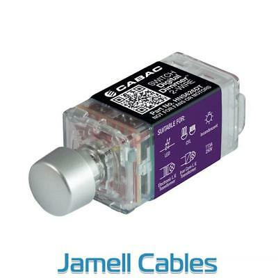 Cabac S-Premium Rotary Digital Dimmer 2-Wire (Clipsal Saturn) HNS626DT