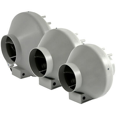 Systemair RVK Sileo 4 5 6 8 10 12 Inch Inline Hydroponic Extraction Duct Fan