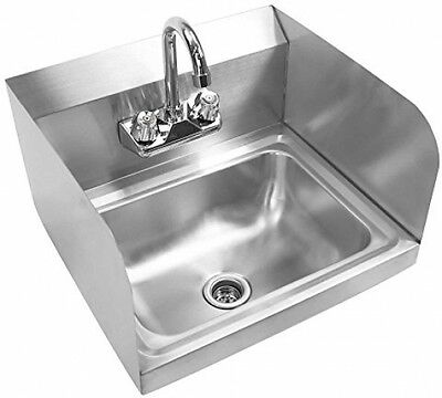 Gridmann Commercial Stainless Steel Wall Mount Hand Washing Sink W/ Faucet and
