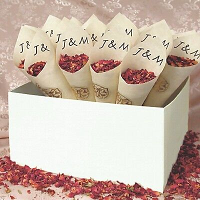 Personalised Confetti Cones With Box - Pack of 25