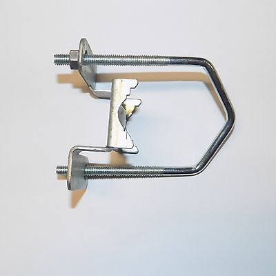 2 x Contract Aerial Sliding Clamp / Aerial to Mast Clamp and V Bolt / Slide On
