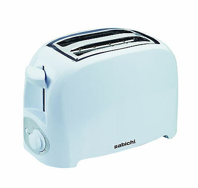 Sabichi Electrical 2 Slice Toaster, White , 750W Kitchen Utility Home New