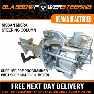 NISSAN MICRA ELECTRIC POWER STEERING COLUMN PRE-PROGRAMMED WITH YOUR CHASSIS No!