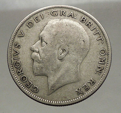 1929 United Kingdom of Great Britain GEORGE V Half Crown Silver Coin i56647