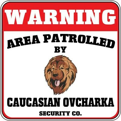 PPDG0117 BEWARE OF CAUCASIAN OVCHARKA  Rustic Tin Chic Sign Home Decor Sign