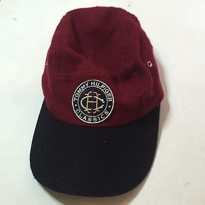 Vintage Tommy Hilfiger Classics Cap 85% Wool Red Blue Hat