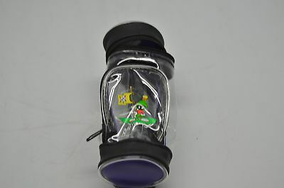 Lot of 6, MARVIN the MARTIAN Six Flags GOLF BAG STYLE Clip-On ZIP POUCH 22A-E
