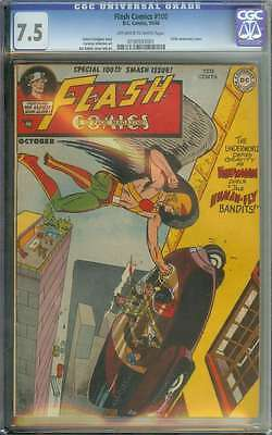 Flash Comics #100 Cgc 7.5 Ow/wh Pages
