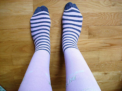 Ladies used worn cute knee high girly socks size 5