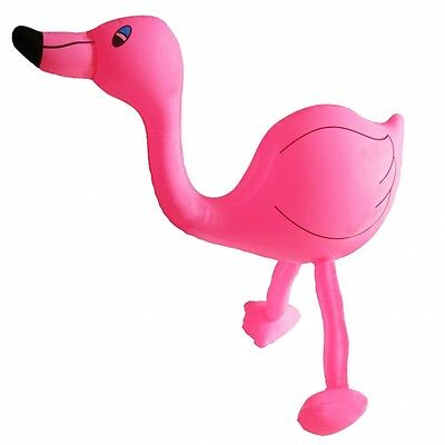 Kinderbadespaß Flamingo aufblasbar 61cm Aufblasvogel Deko Hula Hawaii Party