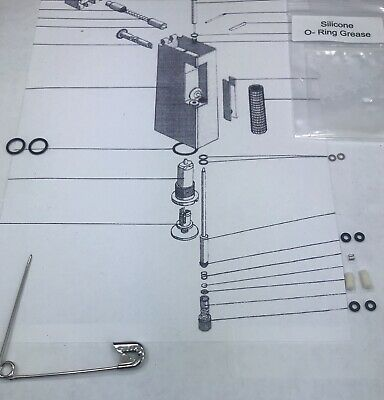 Lighter Repair KIT that Services 2 Vintage dun-hill Roll-a-gas lighters, o-rings