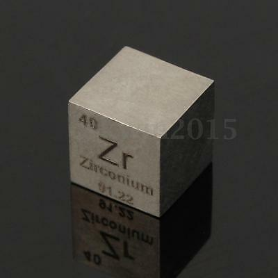 10mm 99.2% Purity Carved ZR Cube Element Periodic Table Zirconium Metal Sample